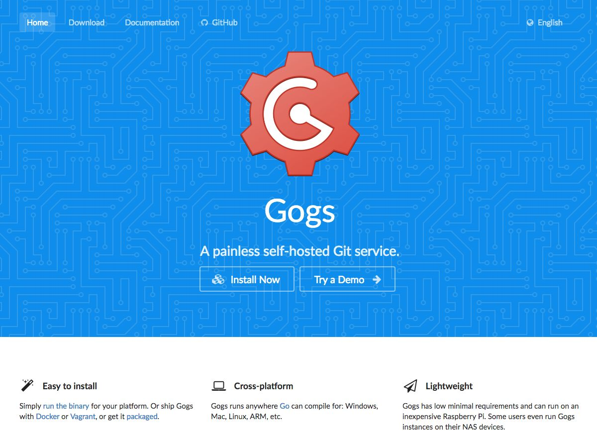Gogs, an alternative to Gitlab
